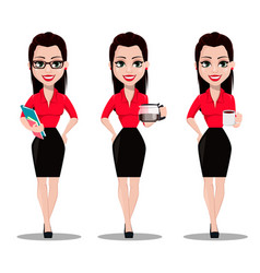 Secretary in office style clothes vector