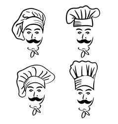 Set of chef in hat vector
