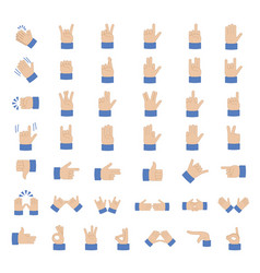 set of hand emoticon vector image