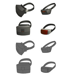 set of Virtual reality devices concepts vector image