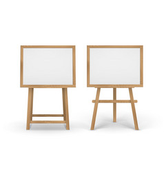 Set of wooden brown sienna art boards vector