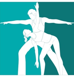 sports couple vector image