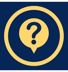 Status flat yellow color rounded icon vector