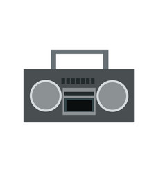 stereo radio music play retro vector image
