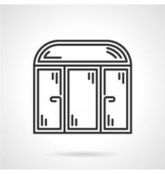 Store window black icon vector image