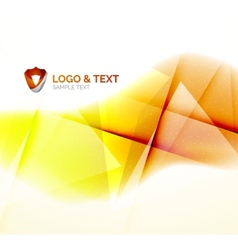 Sunny blur yellow wave design vector image
