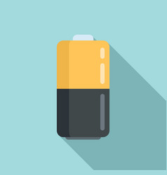 Survival battery icon flat style vector