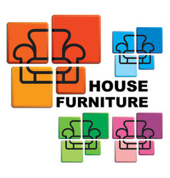 symbol of house furniture vector image