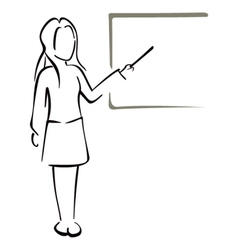 Teaching in class vector image