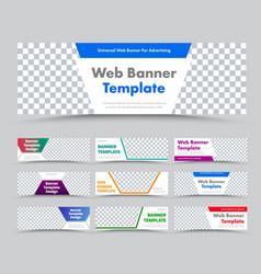 templates horizontal white modern web banners vector image