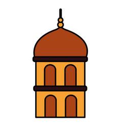 Temple dome architecture vector