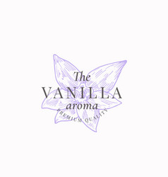 The vanilla aroma abstract sign symbol or vector
