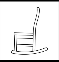 Thin line icon of chair rocking vector