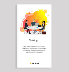training meeting professionals business rally vector image