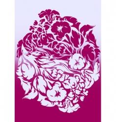 violet background flower ornam vector image