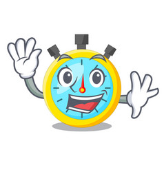 Waving isolated stopwatch with in the character vector