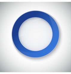 White plate with blue border vector image