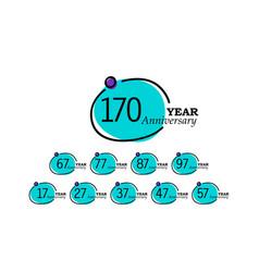 Year anniversary template design blue circle vector