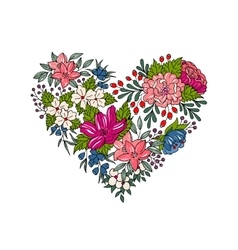 colorful floral heart for Valentines Day vector image vector image