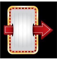 Entrance neon vector image