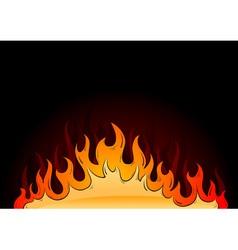 hot flames vector image