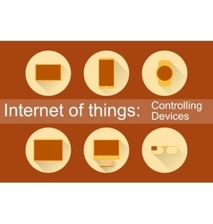 IoT - Controlling Devices Icons vector image vector image