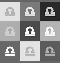 libra sign grayscale version vector image