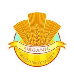 Organic wheat flour label vector image vector image