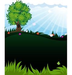 Tree in meadow vector image vector image
