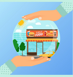 business concept for opening the institution of vector image