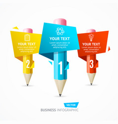 business infographic pencil banner card vector image