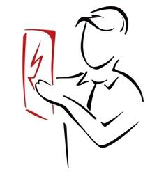 Electricity symbol vector image vector image