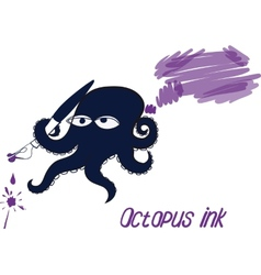 Octopus and ink vector image