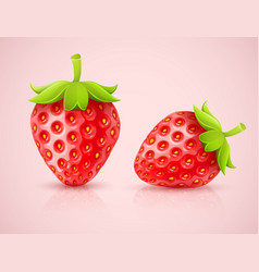 Red strawberries vector image vector image