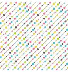 Seamless Fun Abstract Diagonal Pattern Isolated on vector image vector image