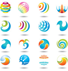 set of design elements and buttons vector image