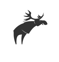 Stylized silhouette moose logo emblem vector image vector image