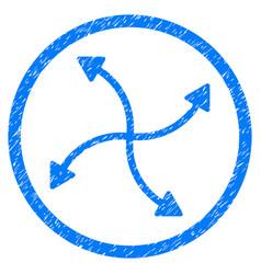 Swirl arrows rounded grainy icon vector