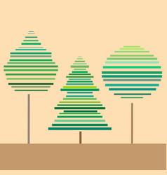 three trees vector image vector image
