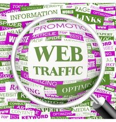 WEB TRAFFIC vector image