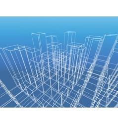 Abstract city construction vector