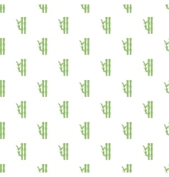 Bamboo pattern cartoon style vector image