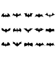 bat icons vector image vector image