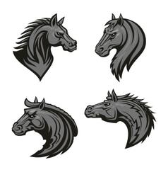 Horse head heraldic emblem vector image