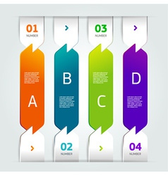 modern number list infographic banner vector image vector image