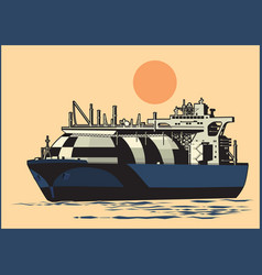 natural gas tanker vector image