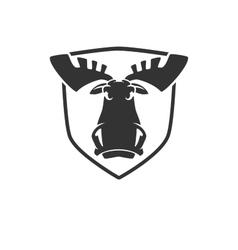 The evil moose head logo emblem vector image vector image