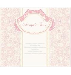 wedding invitation vintage card vector image vector image