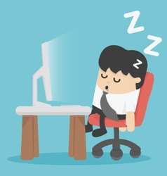 businessman sleep at his office vector image