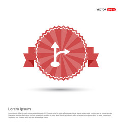 2 side arrow icon - red ribbon banner vector image
